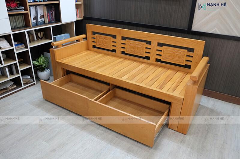 Sofa giường gỗ đa năng đảm bảo đủ tiện nghi, tiết kiệm diện tích
